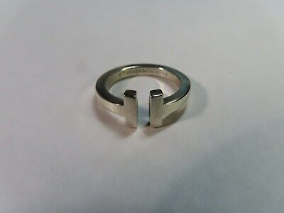 Tiffany & Co. Sterling Silver 925 Classic T Square Ring Size 7