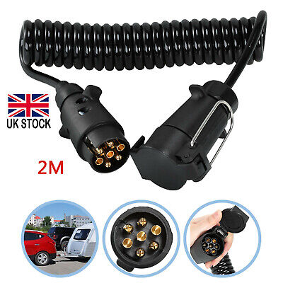 7-13 Pin Trailer Light Board Extension Cable 2M Lead Plug Socket Towing Wire