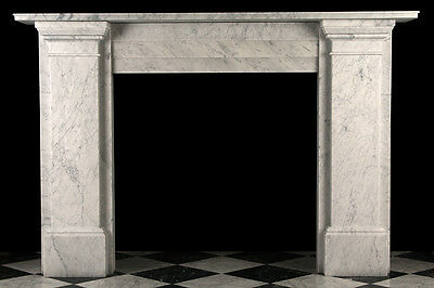Very Large Victorian Plain Fireplace Surround in Quality Italian Carrara Marble