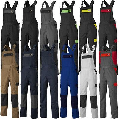 Dickies Mens Everyday Bib & Brace Work Overall Polyester Dungarees Bib