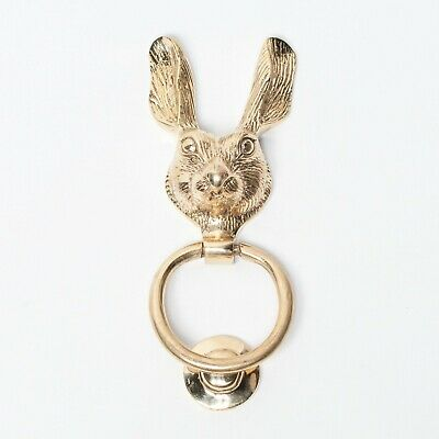 Classical Solid Brass Rabbit Hare Door Knocker Animal Country Style