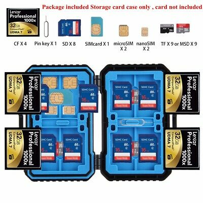 27 in 1 Memory CF SD TF Card Case Holder Waterproof Storage Box Protector Holder