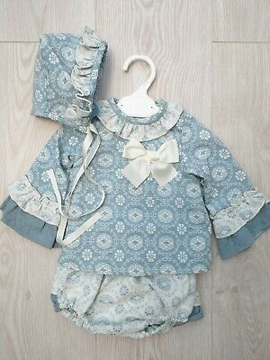 18Mths D500 A Baby Girls Spanish Romany Set with wine 2 Piece  Age 6Mths