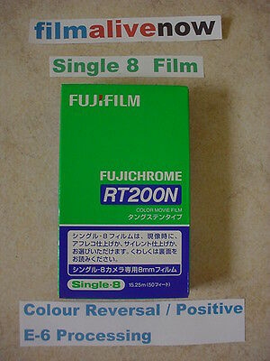 Fuji Single 8 200asa Colour E-6 Home Movie Film Stock, alternative to Ektachrome