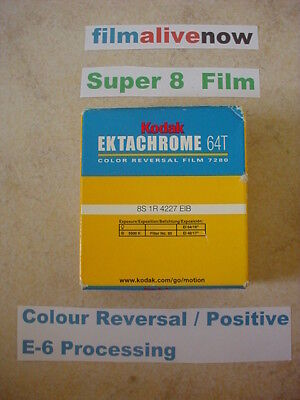 Ektachrome Lives & Processed all over the World, 64T Super 8 Movie Film