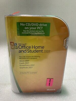 Microsoft Office Home and Student 2007 GENUINE retail For Windows