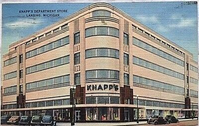 Knapps Department Store Lansing Michigan Vintage Postcard A13