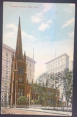 Vintage Postcard Trinity Church New York  C 6