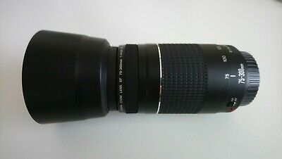 Canon EF 75-300mm f/4-5.6 III Zoom Lens with Canon lens hood