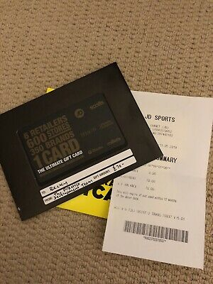 JD Sports Gift Card £70 Voucher Unwanted Gift