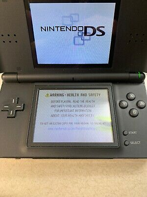 Nintendo DS Lite console Black, Battery, Charger, 2 Mario Games & Stylus.