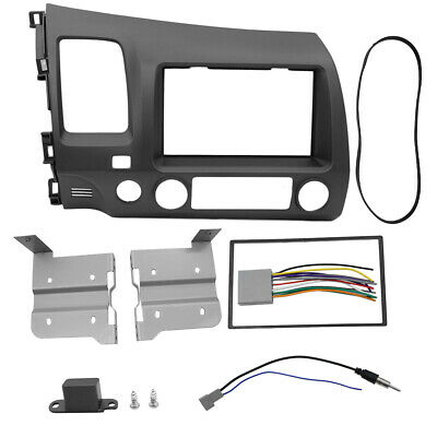 BEST Honda Civic 06-11 Taupe Radio Stereo Dash Kit  Wiring Harness Double 2 Din