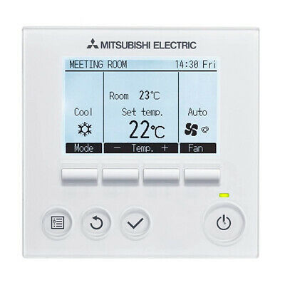Chronothermostat pour Air Conditionné Mitsubishi Electric PAR32MAA Blanc