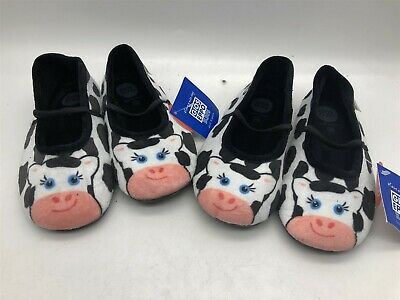 2x New Ex-Display Gioseppo Kids Super Soft Cow Slippers Girls EU Size 28 / UK 10