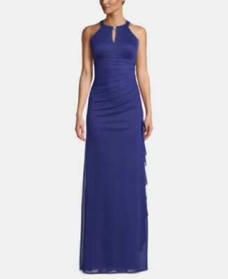 B & A by Betsy and Adam Ruched Halter Gown MSRP $119 Size 4 # 4NA 357 NEW