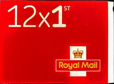 1ST First Class Royal Mail Self Adhesive Postage Stamps Book of 12 BRAND NEW