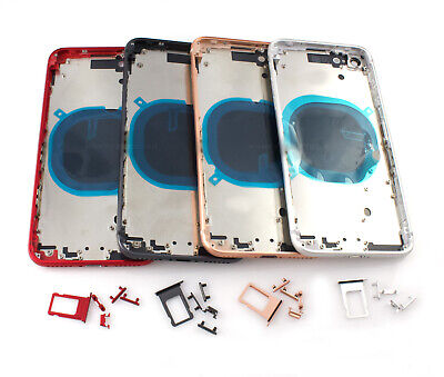 Replacement Back Glass Housing Battery Cover Frame Assembly For iPhone 8 Plus X