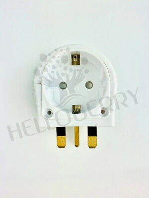 European Euro EU Schuko 2 Pin to UK 3 Pin Travel Mains Adaptor Plug