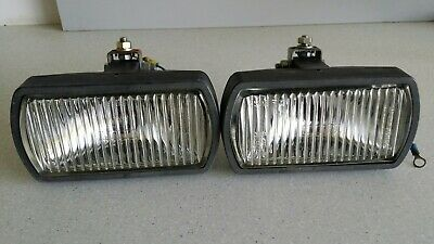 BMW 3 5 6 7 Series Classic Rally Style 12v Halogen Fog Lamps Spot Lights Pair