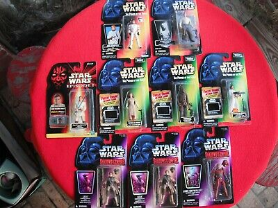 Lot of 9 Star Wars action figures New in unopened Packages