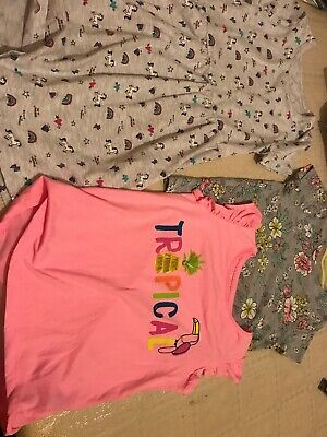 Girls Dress And Tshirts 6-7 Dunnes stores