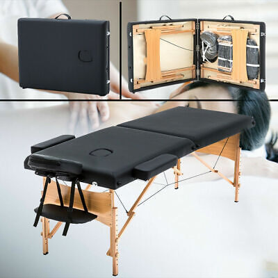 "2"" Pad 84"" Massage Bed Portable Massage Table Free Carry Case Bed Spa Facial New"