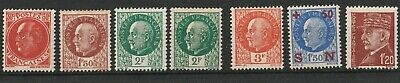 (A24) France 1941 - 1942 / lot de 7  - NEUF X - Marechal Pétain