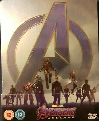 Avengers Endgame - 3D + 2D Blu Ray Zavvi Exclusive  Steelbook New And Sealed