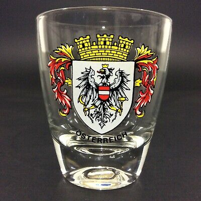 "Shot Glass Osterreich Austria Souvenir 2"" Collectible Bar Decor Man Cave"