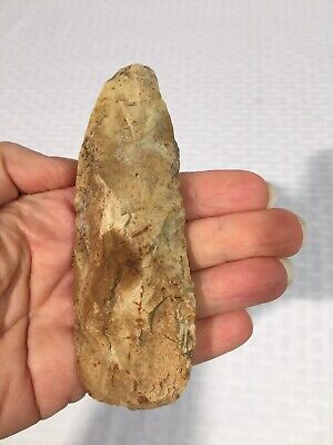 African Paleolithic Neolithic Hand AXE KNIFE BLADE STONE FLINT Artifact 28