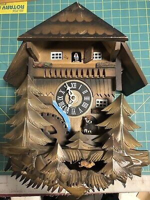 Cuckoo Clock Old Antique Or Vintage For Parts Or Repair