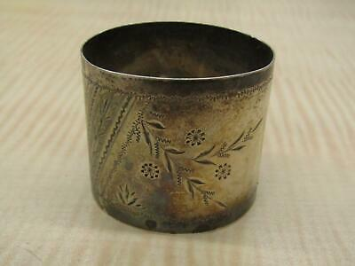 Sterling Silver Napkin Ring Holder Monogrammed Vintage Etched