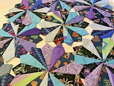 Over 200 Quilt Wedges MUCH MORE! No Raw Edges LG DRESDEN PLATE FABRIC LOT