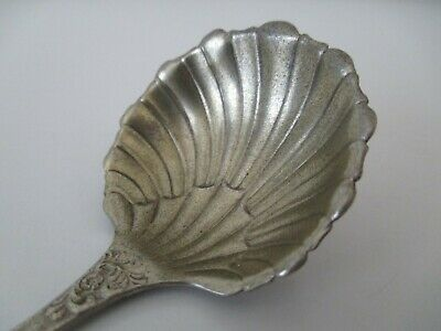 """Antique 1890 Victorian Towle ALBANY Sterling Silver Shell Berry Spoon 5 1/8"""""""