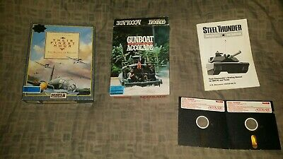 Their Finest Hour Lucasfilm accolade gunboat steel thunder IBM 3.5 PC game lot