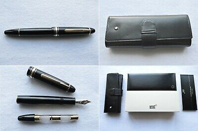Montblanc Meisterstuck Legrand Traveller 147 Fountain Pen & Leather Pouch