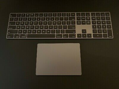 Apple Magic Keyboard with numeric keypad and Apple Magic Trackpad 2 - Space Gray