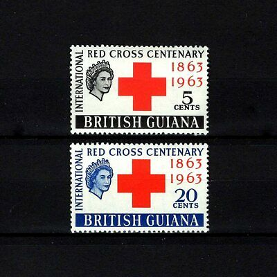 British Guiana - 1963 - Qe Ii - Red Cross Centenary - Mint - Mnh Set!