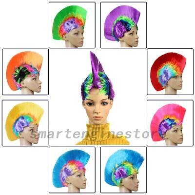Mohawk Hair Wig Mohican Punk Rock Fancy Dress Cosplay Party Performance Costume