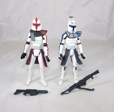 Star Wars Clone Wars Arc Troopers Battle Pack Captain Rex & Fordo Figure Lot