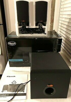 Klipsch ProMedia 2.1 THX Certified Speaker System TESTED with cords