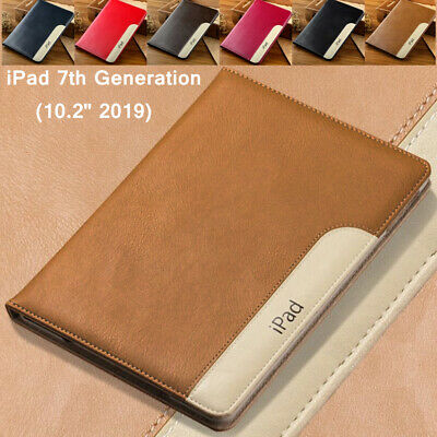 "For iPad 7th Gen 10.2"" 2019 Luxury Smart Leather Wallet Stand Flip Case Cover"