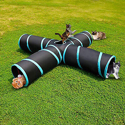 Portable Waterproof Folding 4 Way Pet Tunnel Tube Toy for Cat Dog Puppy Rabbits