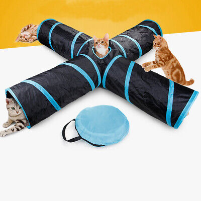 Waterproof Foldable 4 Way Pet Tunnel Tube Toy for Cat Dog Puppy Small Animals