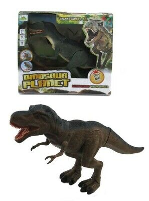 NEW Tyrannosaurus Rex Walking Dinosaur Light Sound Moving Head from Mr Toys