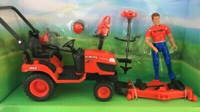 NEW Kubota Weekend Farmer Set - Tractor & 2-Stroke Weapons from Mr Toys
