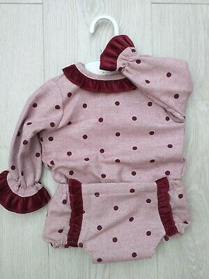 Baby Girls Spanish Style Romany Pink Tartan Bow Top /& Lined Jam Pant Outfit AW19