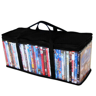 DVD Organizer Storage Bag Clear Dustproof Oxford Cloth Video Carrying CD Holder