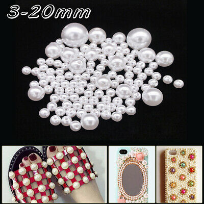 Hole Jewelry Making Accessories  Imitation Pearls Beads Round Loose Beads