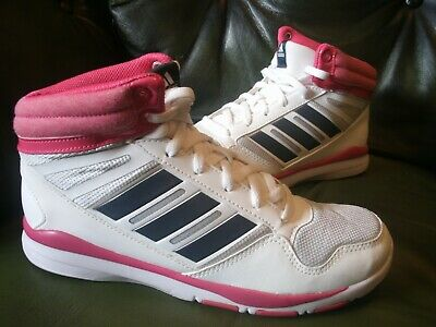 adidas High Tops Youth/Girl Size UK 5 Pink white & silver